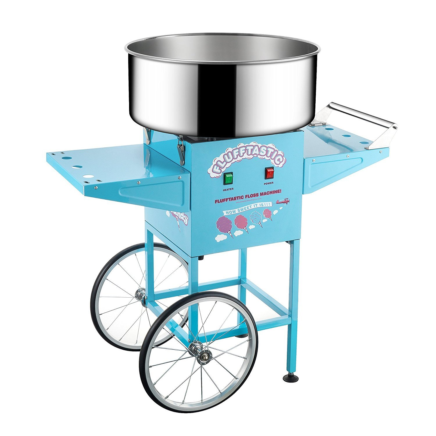 6315 Great Northern Popcorn Flufftastic Cotton Candy Machine Floss Maker With Cart by Great Northern Popcorn Company