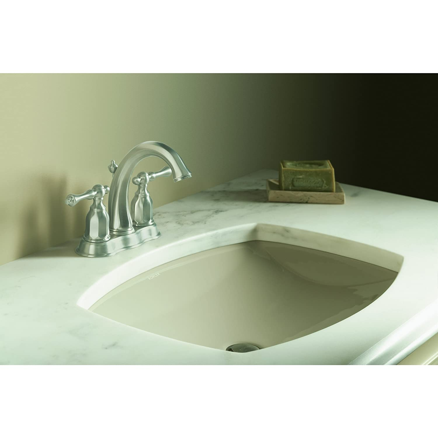 KOHLER K-13490-4-BN Kelston Center Set Bathroom Sink Faucet, Vibrant ...