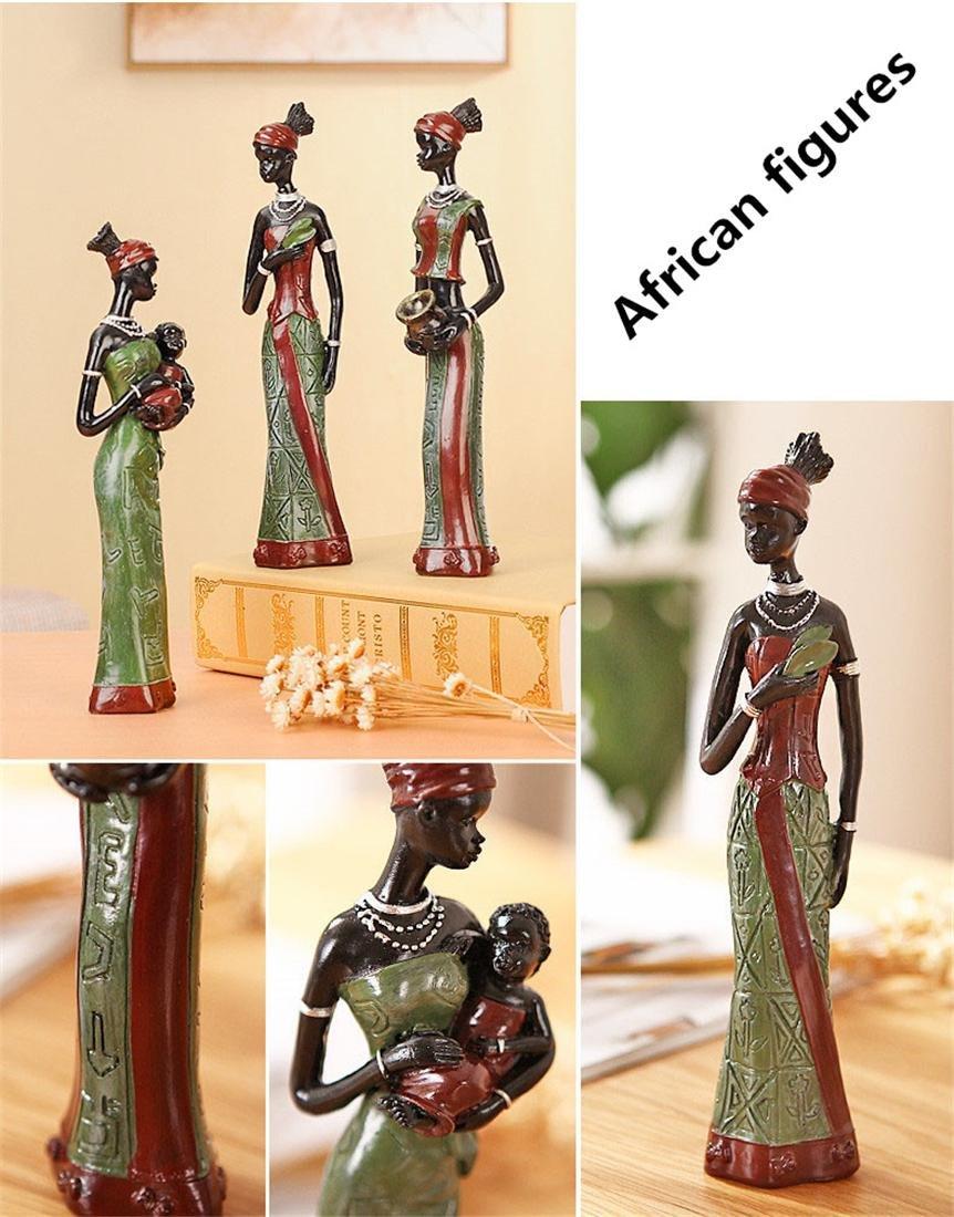 Creativo Escultura Familia Escritorio Adornos Casa Vivo Habitaci/ón Cafeter/ía Bar Decoraci/ón Ni/ños Regalos Moderno Resina Estatua Casa Decoraci/ón Arte /África Nacional aduana Figuras Conjunto A