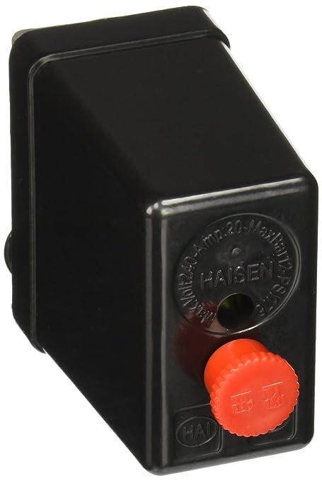 SOURCING MAP Compresor de aire presión 240 V PSi 175 12 Bar conmutador de Control negro