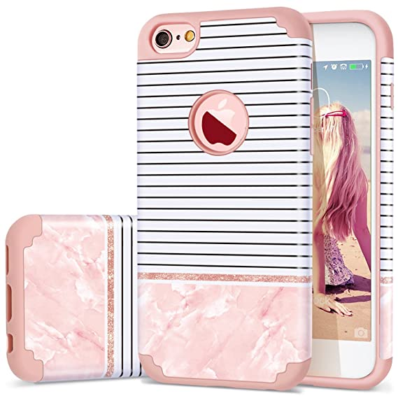 a6e493f97753 Amazon.com: iPhone 6s Case for Girls,iPhone 6 Case,Fingic Hybrid 2 ...