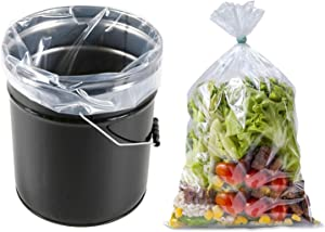 5 Gallon Bucket Liner Bags for Marinating and Brining, Set Of 10/30,Food Grade, BPA Free, Extra Heavy Duty Leak Proof, Great for Food Storage,20x28 Inch (Set of 30)