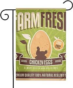 Retro Farm Fresh Chicken Eggs Spring Summer Garden Flag 12.5