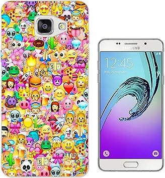 925 - Collage Multi Smiley Faces Emoji Design Samsung Galaxy A3 (2016) SM-A310F Fashion Trend Protecteur Coque Gel Rubber Silicone protection Case ...