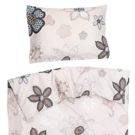 Monna - Ropa de cama para minicuna, 100% Algodón (funda de edredón 80x120
