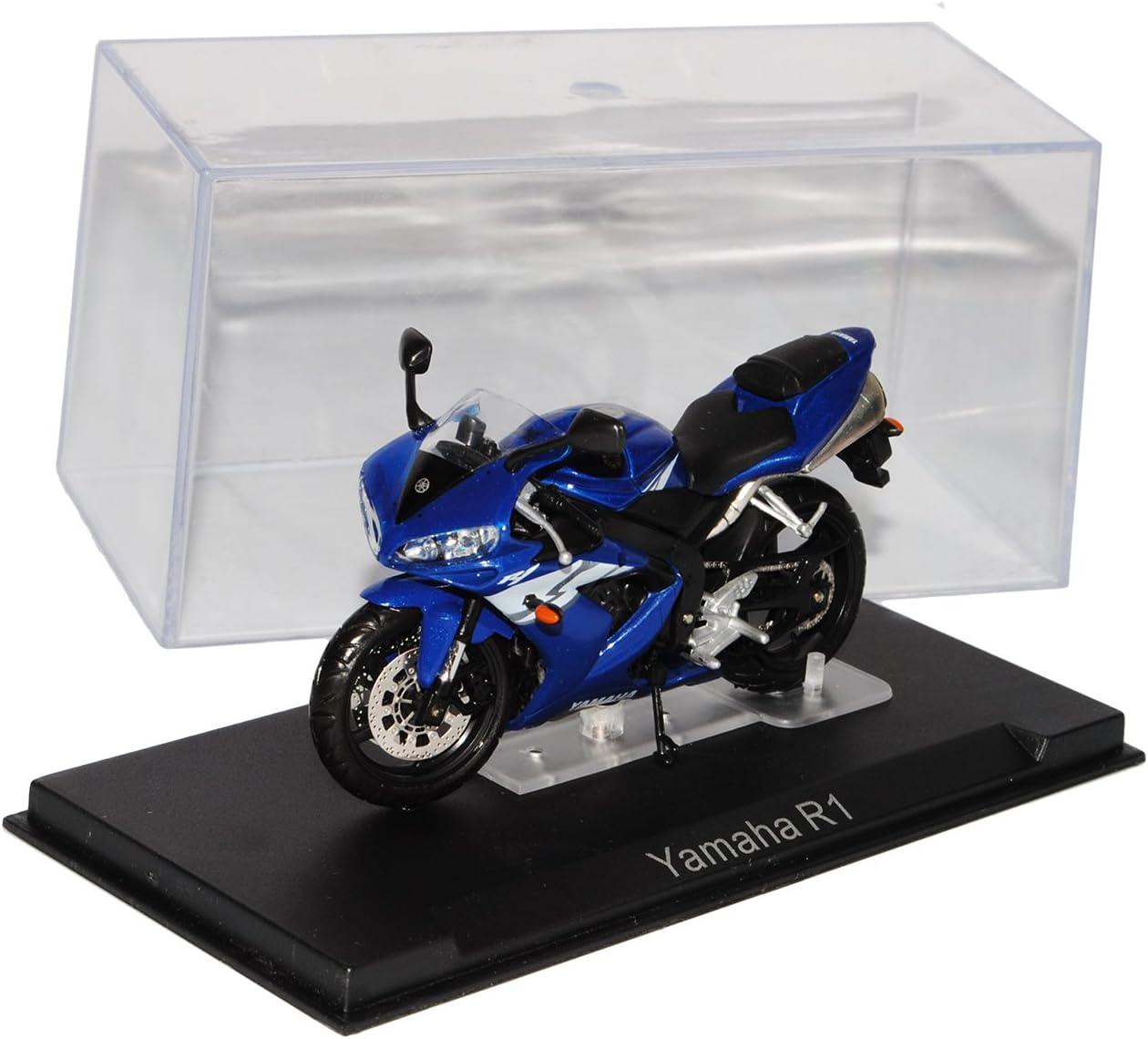 Ixo Yamaha YZF R1 Blau 1//24 Modellcarsonline Modell Motorrad mit individiuellem Wunschkennzeichen