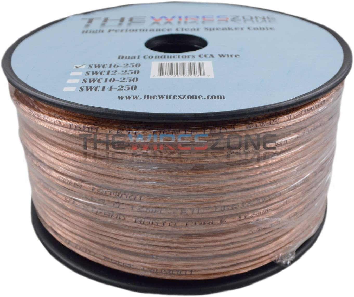 25 feet Car Home Audio Speaker Wire Transparent Clear Cable 16AWG 16//2 Gauge
