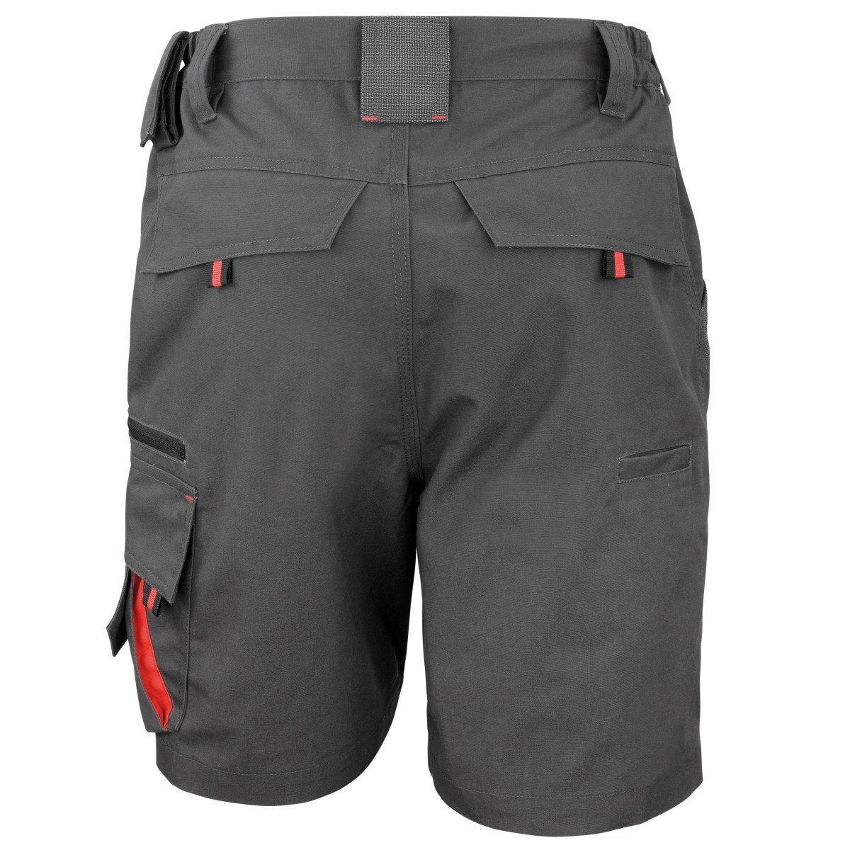 Result Workguard Unisex Technical Work Shorts (M) (Grey/Black)