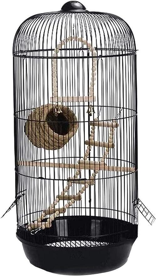 Jaula dpájaros duradera y ecológica, Cúpula jaula pájaro periquito salvaje pájaro gorrión pájaro canario pájaro jaula mascota casa espaciosa fuerte fuerte y robusto Jaula para pájaros Parrotlet Finch