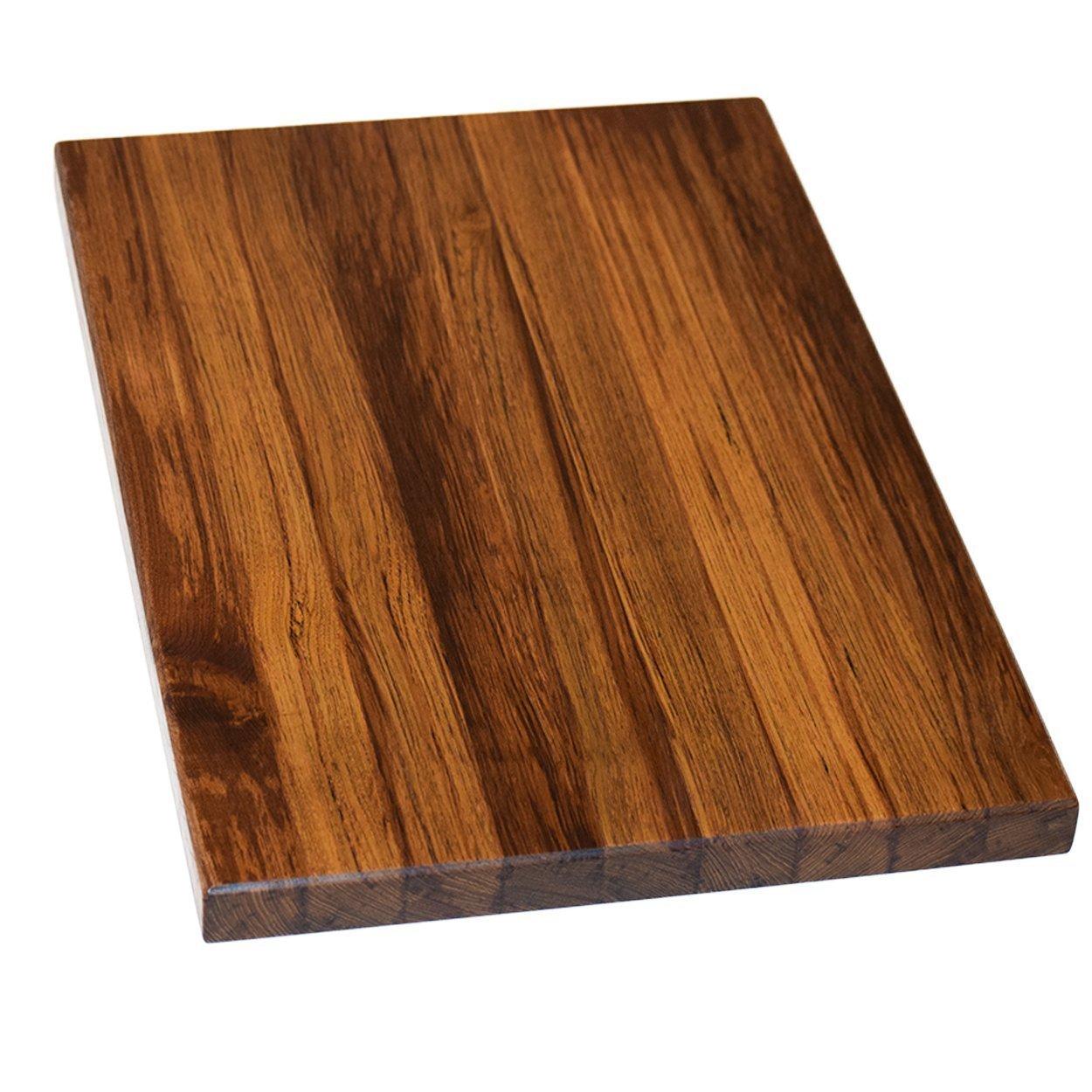 Teak Wood Edge Grain Cutting Board Handmade Reversible Butcher Block by The Practical Plankist (Image #2)