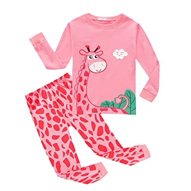 7dc0fb9215 Baywell Baby Girls Pyjamas, Kids Pyjamas Cartoon Giraffe Dancing Girl  Print: Amazon.co.uk: Clothing
