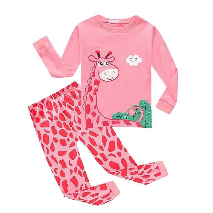 ceab891b9 BOBORA Baby Girls Pyjamas Set Kids Children Giraffe Mermaid Flamingo Cotton  Sleepwear Pjs Set Clothing for 1-8Years  Amazon.co.uk  Clothing