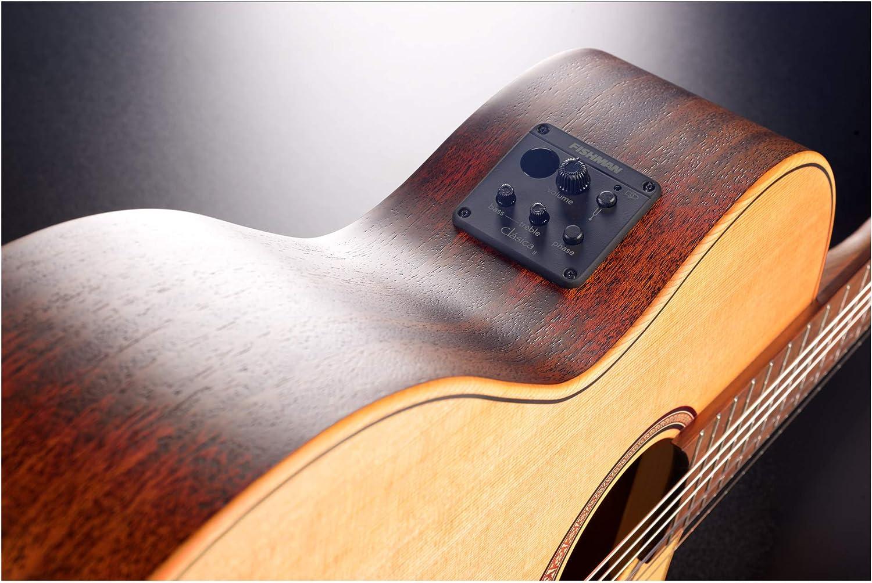 LAG OC170CE Occitania 170 - Guitarra de concierto (tamaño 4/4 ...