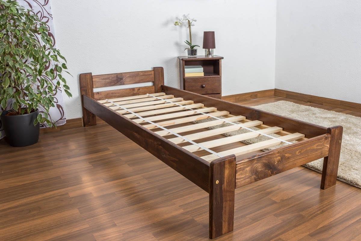 Cama futón (Pino 80 x 200 cm nogal con somier: Amazon.es ...