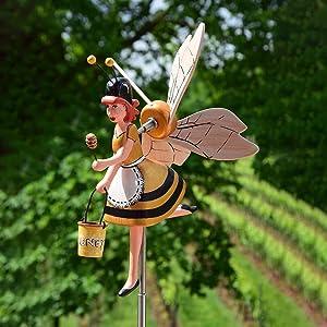 OrchidAmor Wooden Whirligig Series,Bird Windmill Whirly Garden Lawn Decoration,Garden Decor Whirligigs Wind Spinners,Flying Bird Garden Windmill Art,Outdoor Lawn Yard Patio Decor Accessories