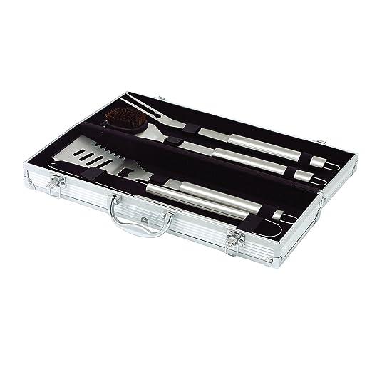23 opinioni per Top Star 291333- Set di 4 utensili per barbecue in acciaio in ossidabile con