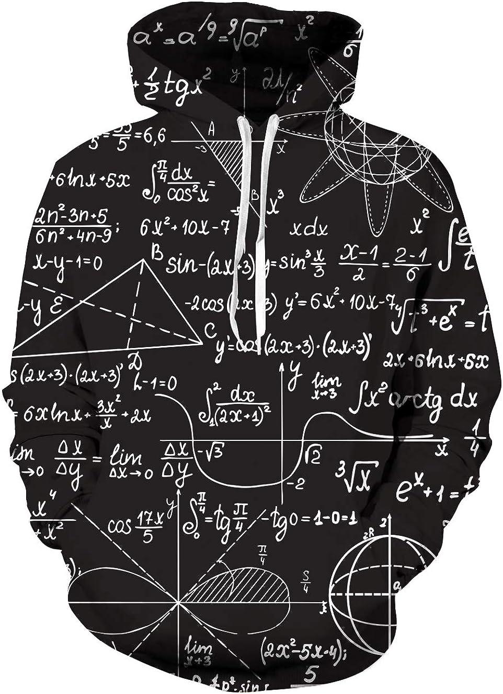 uideazone Unisex Kapuzenpullover 3D Druck Hoodies Langarm Ugly Pullover Sweatshirt Kapuzenjacke mit Taschen f/ür Herren Damen S-3XL