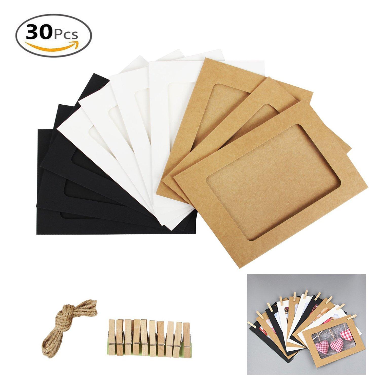 Amazon.de: 30 Kraftpapier Bilderrahmen Foto Display DIY Wand hängen ...
