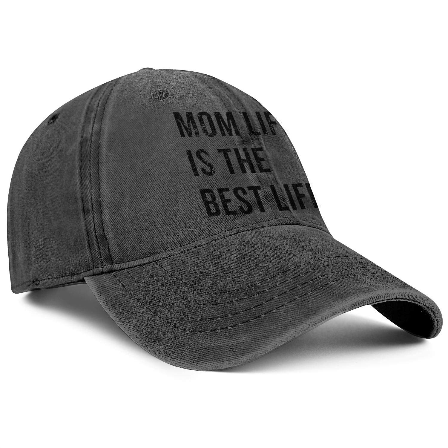 TopCrazy Mom Life is The Best Life Denim Sports Hats Men//Women Style Cowboy Trucker Cap