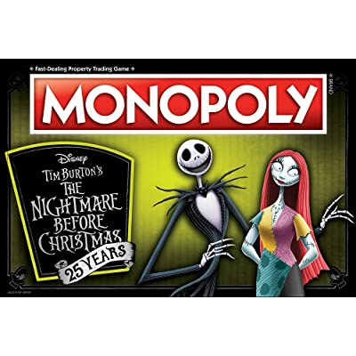 Monopoly Disney Nightmare Before Christmas 25 Years Board Game | 25th Anniversary Collector's Edition | Collectible Monopoly Tokens: Toys & Games