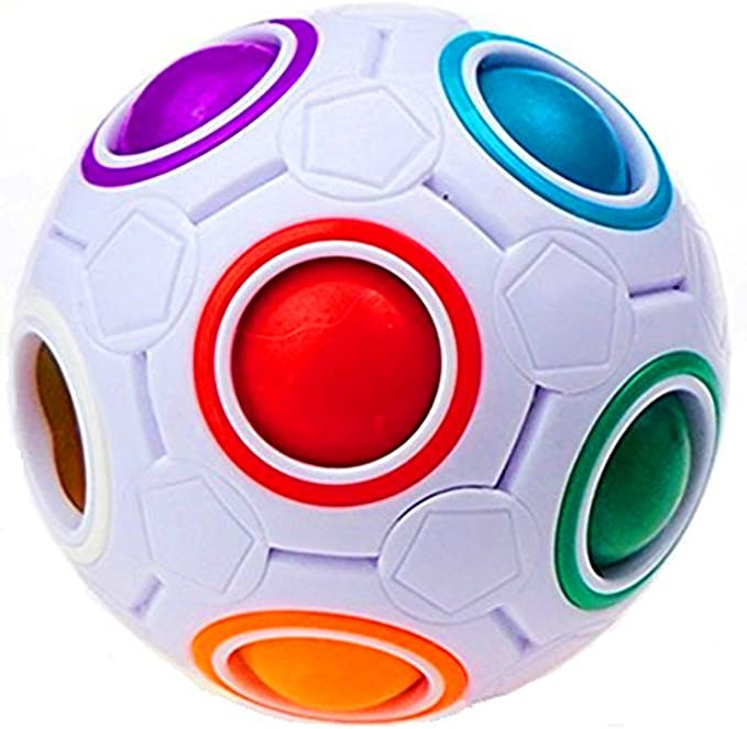 CuberSpeed YJ Puzzle Rainbow Ball Magic Cube with Plastic Case