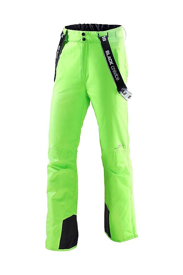 Pantalón de esquí para hombre de color verde fosforito