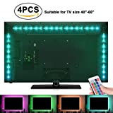 Amazon Price History for:Sunnest TV Backlight Light Kit, 6.56FT/2M 5V USB LED Lights Strips 5050 RGB Bias Lighting with Remote for HDTV Desktop PC Monitor Home Theater Kitchen Cabinets, Multi Color (40-60in)