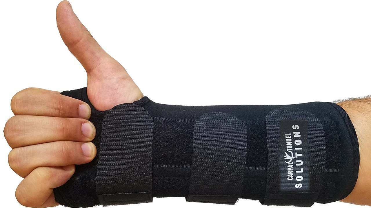 Carpal Tunnel Night Time Wrist Brace for Right Hand By Carpal Tunnel Solutions- RELIEF For RSI, Cubital Tunnel, Tendonitis, Arthritis, Wrist Sprains, Support Recovery & Feel Better NOW(Right Hand)