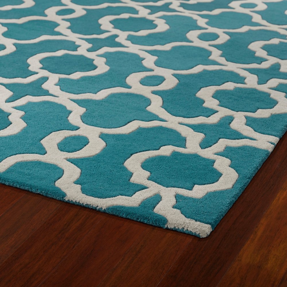 Amazoncom Kaleen Rugs Revolution Collection REV03 91 Teal Hand