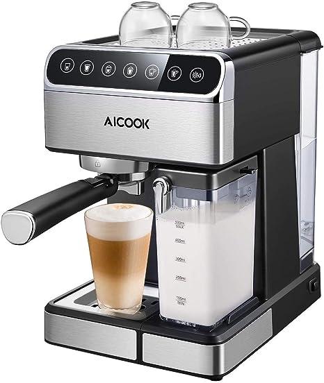 Amazon.com: Máquina de café Aicook Espresso, Barista ...