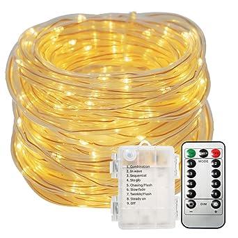 Led Lichterschlauch Aussen Glime 10m 100 Leds Lichterkette Mit