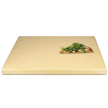 Navaris piedra para pizza de cordierita - Piedra de horno para pizza pan pasteles - Plato