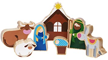 Kinder Weihnachtskrippe.Spielkrippe Fur Kinder Weihnachtskrippe Zum Spielen Mit 7