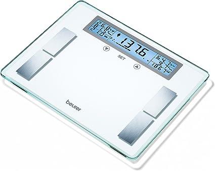 Amazon.com: Beurer – Báscula de análisis corporal de vidrio ...