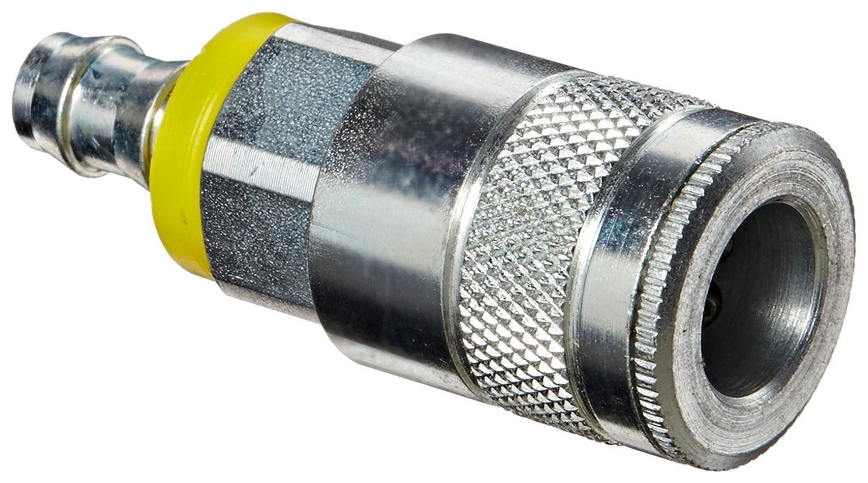 Dixon Valve DC644L Steel Air Chief Automotive Interchange Quick-Connect Air Hose Socket 3//8 Coupler x 3//8 Push-On Hose ID Barb 70 CFM Flow Rating