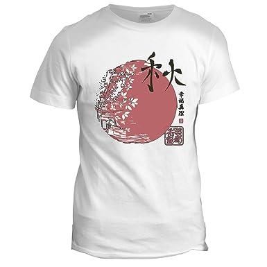 b92cca54992ec1 DesignTshirtsDirect Japanese Warrior Samurai Sun Mens Karate Martial Arts  Chinese Retro 2 T Shirt White  Amazon.co.uk  Clothing
