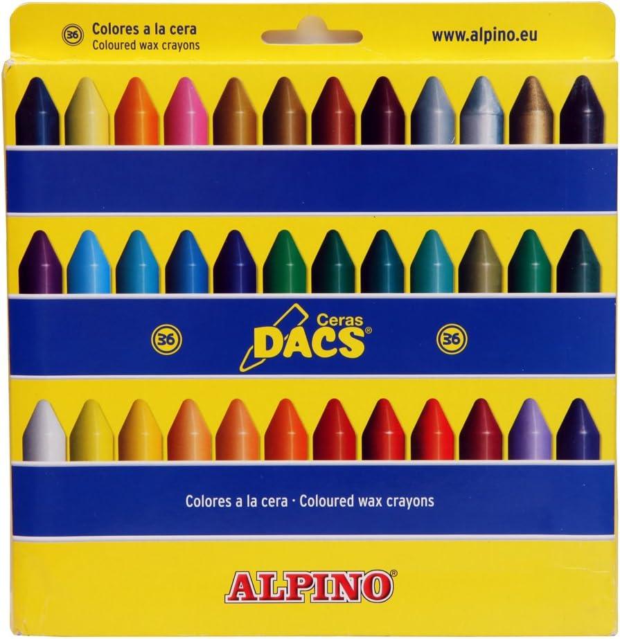 DACS DA050300 - Estuche con 36 ceras: Amazon.es: Oficina y papelería