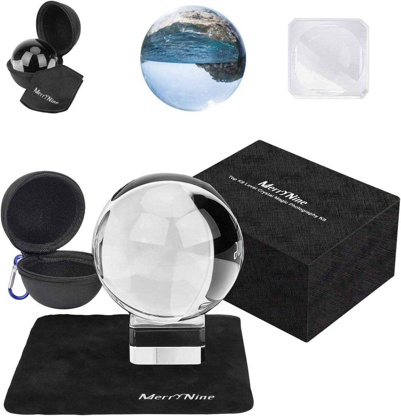 K9 Kristallkugel Mit Ständer Und Tasche Sonnenfänger Mit Mikrofasertasche Dekoratives Und Fotografie Zubehör 80 Mm Mit Geschenkbox Küche Haushalt