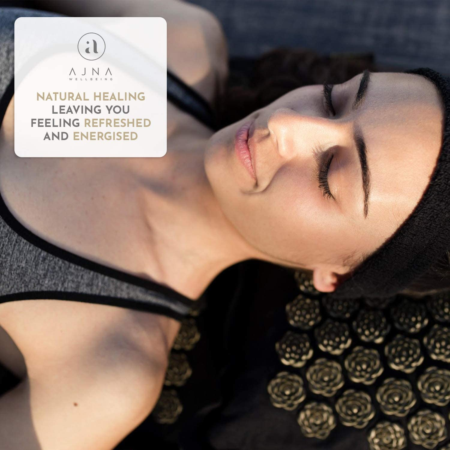 Acupressure Mat and Pillow Set - Natural Organic Cotton Acupuncture Mat & Bag (Eco Luxe)