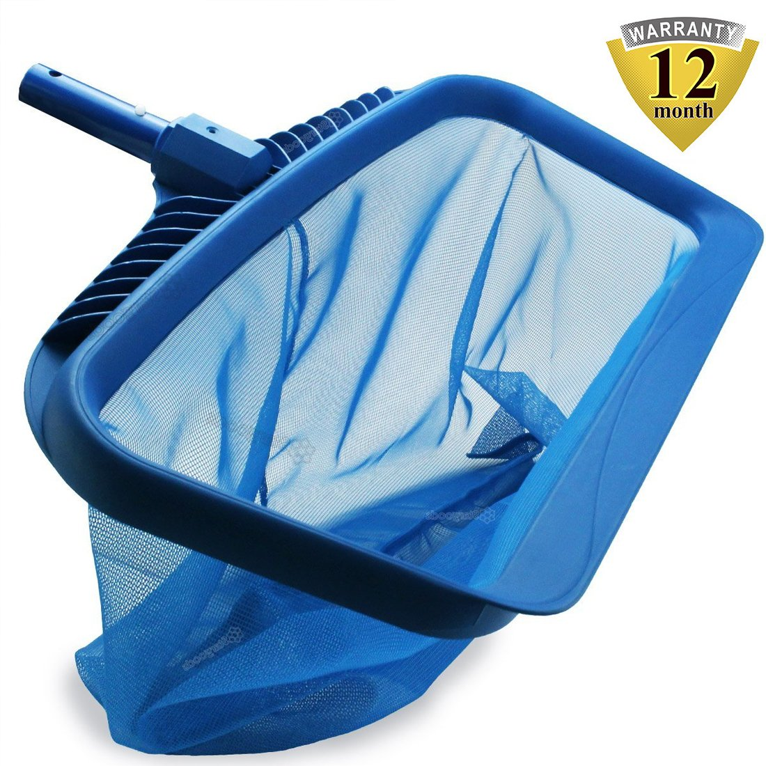 Pool Skimmers Heavy Duty Pool Nets 17'' Pool Rake, Modern Leaf Scoop - Easy Glide Low Drag Skimmer Scoop - Double Stitched Net Bag, Finer Mesh Netting for Smaller Particles Fast Scoop - Blue