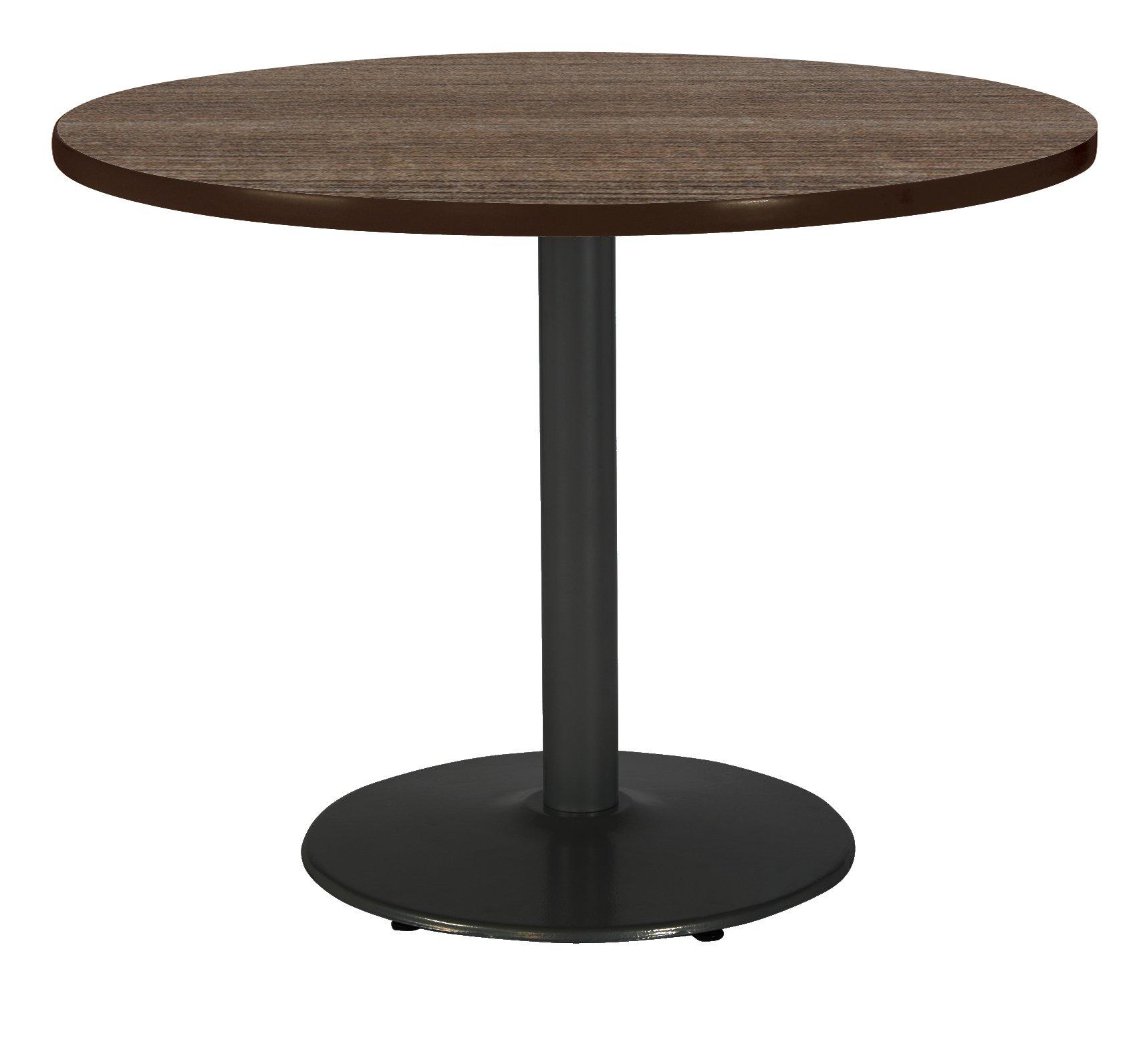 KFI Seating T48RD-B1930-BK-7960K Mode Multipurpose Table 48'' Round Top Studio Teak
