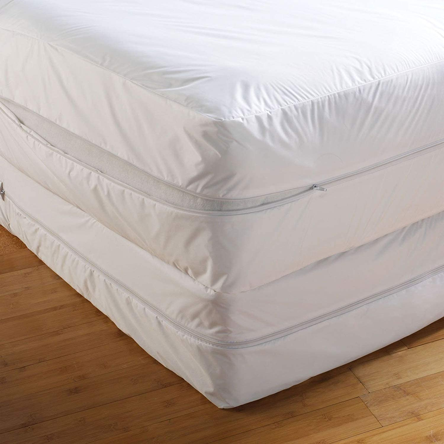 Mattress Protectors Double Bed Bug Proof Cover Zippered Lab Certified Encasement Absorbent Anti Allergy Anti Dust Mite Anti Bacterial 6 Months Warranty Non Noisy Ease Asthma Itchy Feelings Allergens Pet Dander All Uk Sizes Amazon Co Uk Kitchen Home