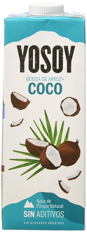 YOSOY Bebida de Arroz con Coco 1L [caja de 6 x 1L]: Amazon.es: Alimentación y bebidas