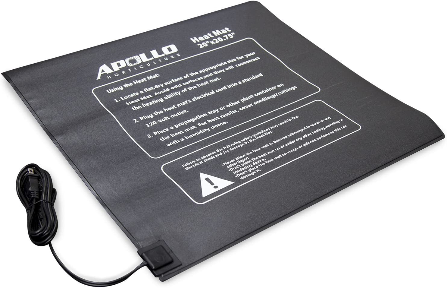 Apollo Horticulture 20 x20.75 Seedling Heating Mat for Propagation and Cloning