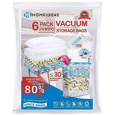 Amazon.com: HomeIdeas Premium bolsas de almacenamiento al ...