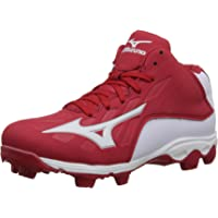 Mizuno 9 Spike ADV YTH FRHSE8 MD RD-WH Youth Molded Cleat (Little Kid/Big Kid)