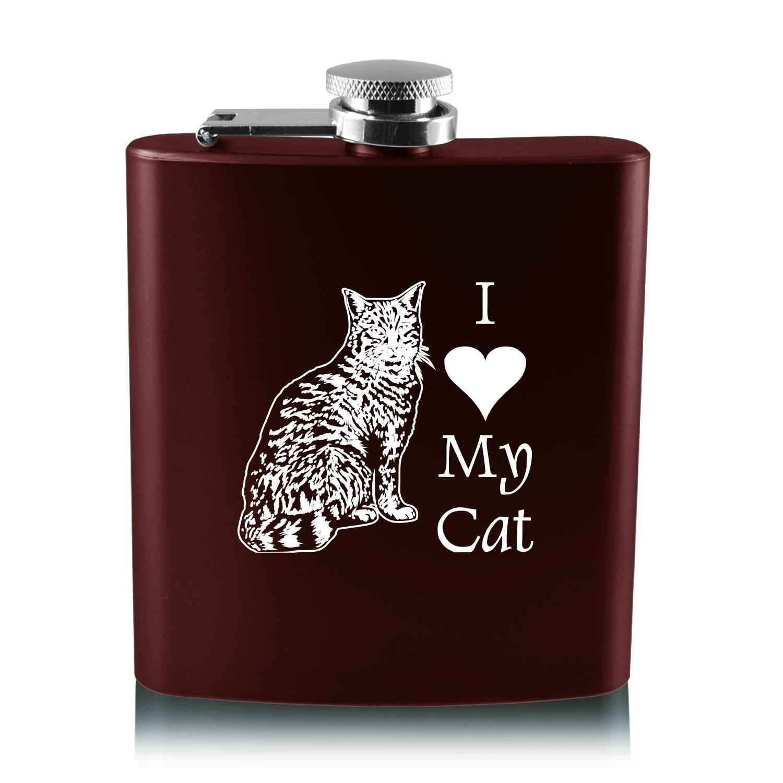 最上の品質な 6オンスステンレス鋼フラスコ – I I Love My B013RU3Z8S My cat-burgundy B013RU3Z8S, BLUME:97df7016 --- school.officeporto.com