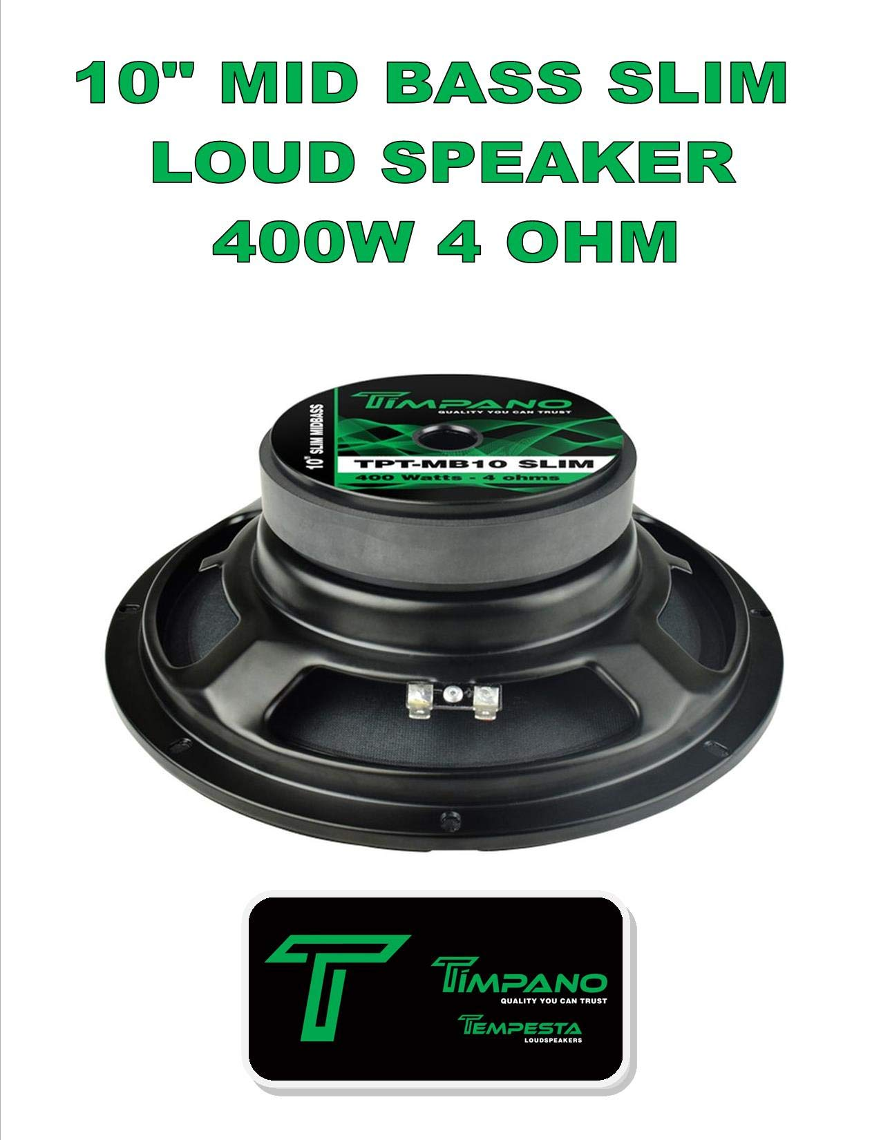 Timpano TPT-MB10 Slim 10'' 4 Ohm 400W Mid Bass Loudspeaker Single