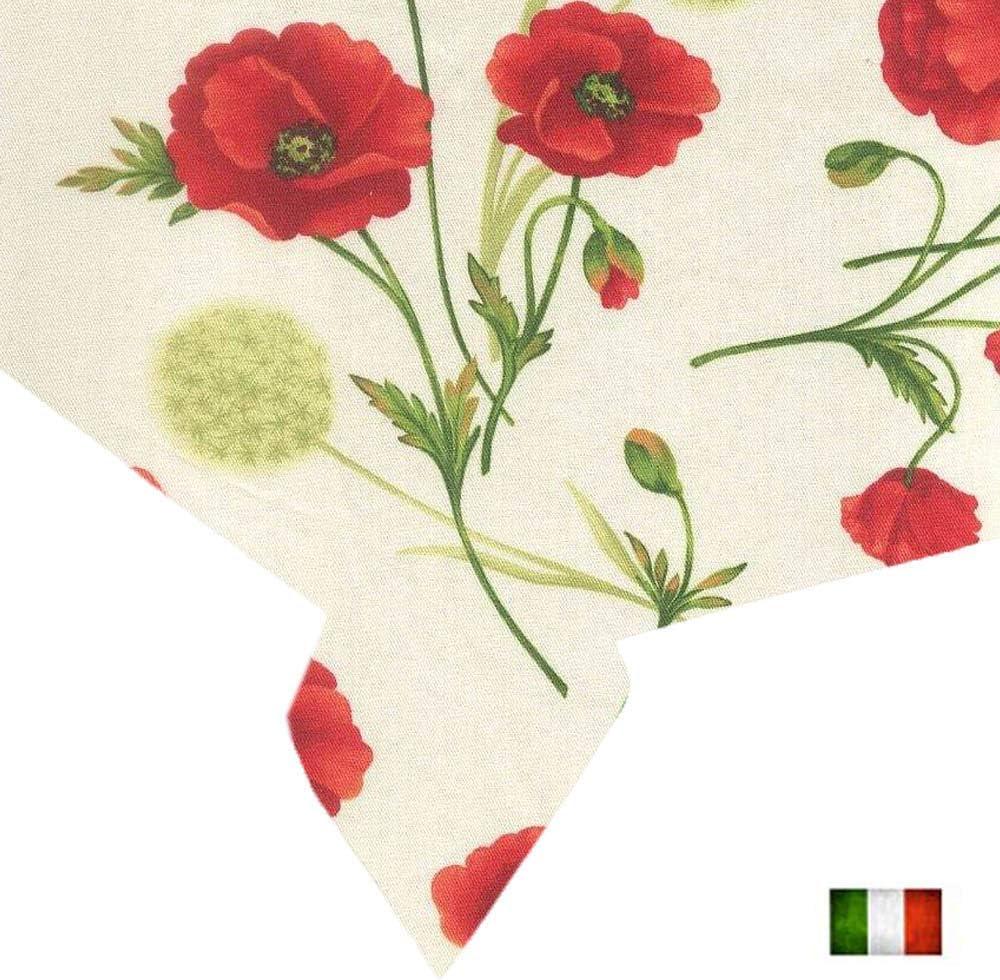 Papaveri, 140 x 180 cm Copritavolo Fantasia Moderna Primavera Estate DR Tovaglia Rettangolare da Tavola