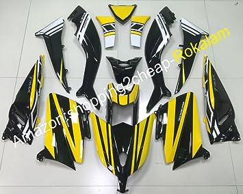 TMAX530 - Juego de moldes para motocicleta Yamaha TMAX 530 2012 2013 2014 T-MAX 530 12 13 14 amarillo negro (moldeo por inyección): Amazon.es: Coche y moto